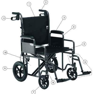 Bariatric Transport Chair - BC MedEquip Home Health Care