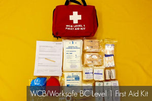 WCB/Worksafe BC Level 1 First Aid Kit- Please call for Pricing - BC MedEquip Home Health Care