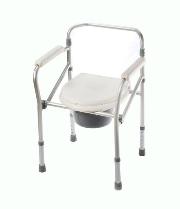 Commode Folding Aluminum Folding Commode - BC MedEquip Home Health Care