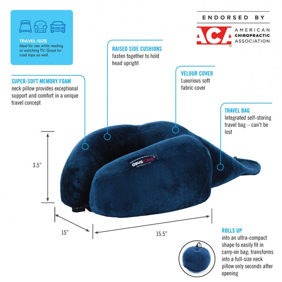 Ultra Compact Roll-Up Travel Neck Pillow PL-RNK-BL