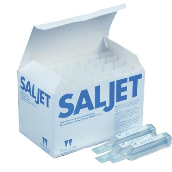 SOLUTION SALINE 0.9% NACL 30ml STERILE IRRIGATION POLY VIAL SALJET BX/40 - BC MedEquip Home Health Care
