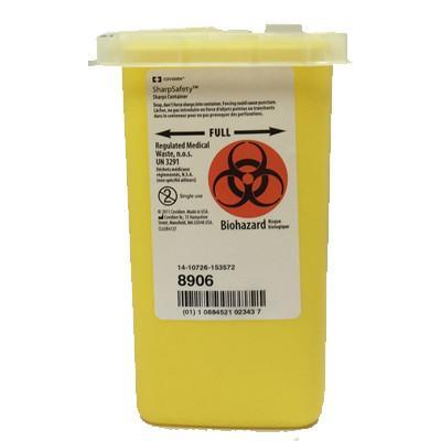 Sharps Container Phlebotomy, Yellow 1 Quart- Please call for Pricing - BC MedEquip Home Health Care