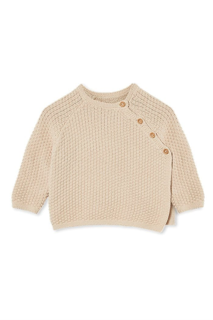 Milky Baby Knit Jacket - Natural