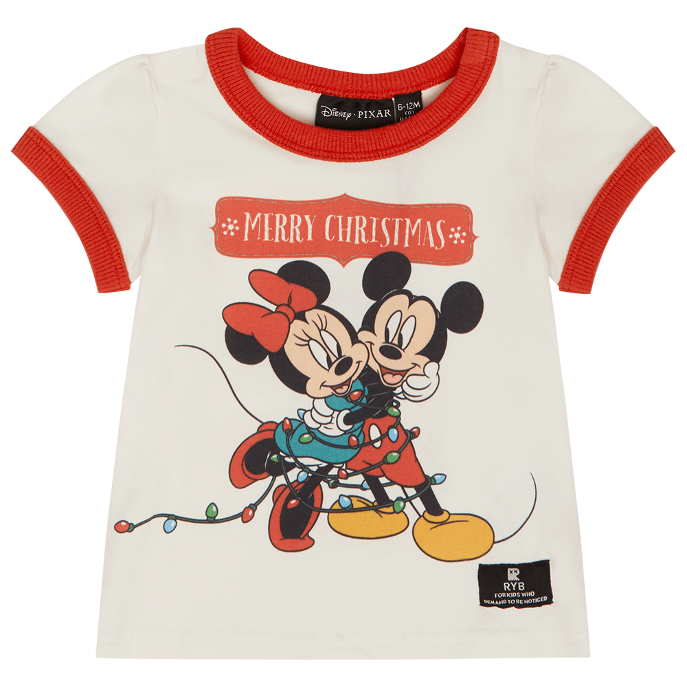 Rock Your Baby Merry Minnie Baby Ringer T-Shirt