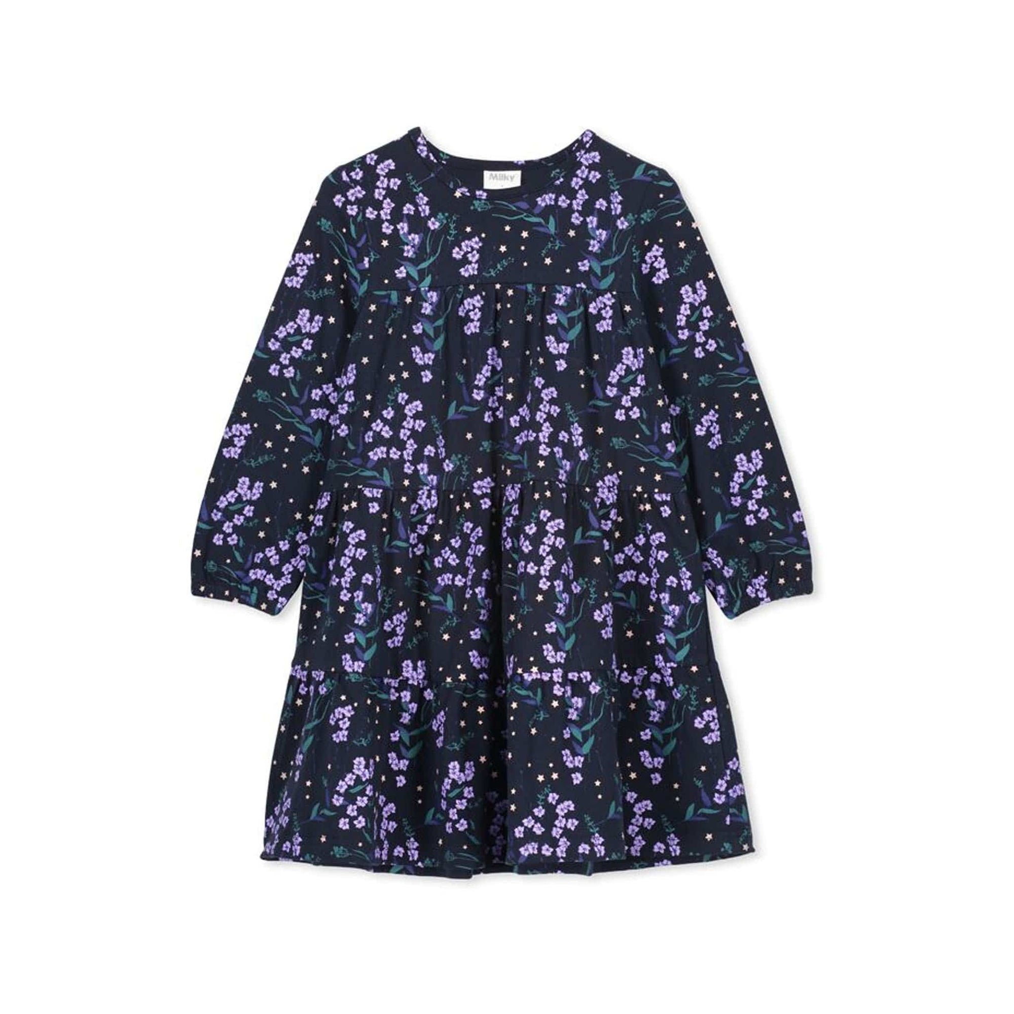 Milky Winter Floral Dress (4783184380035)