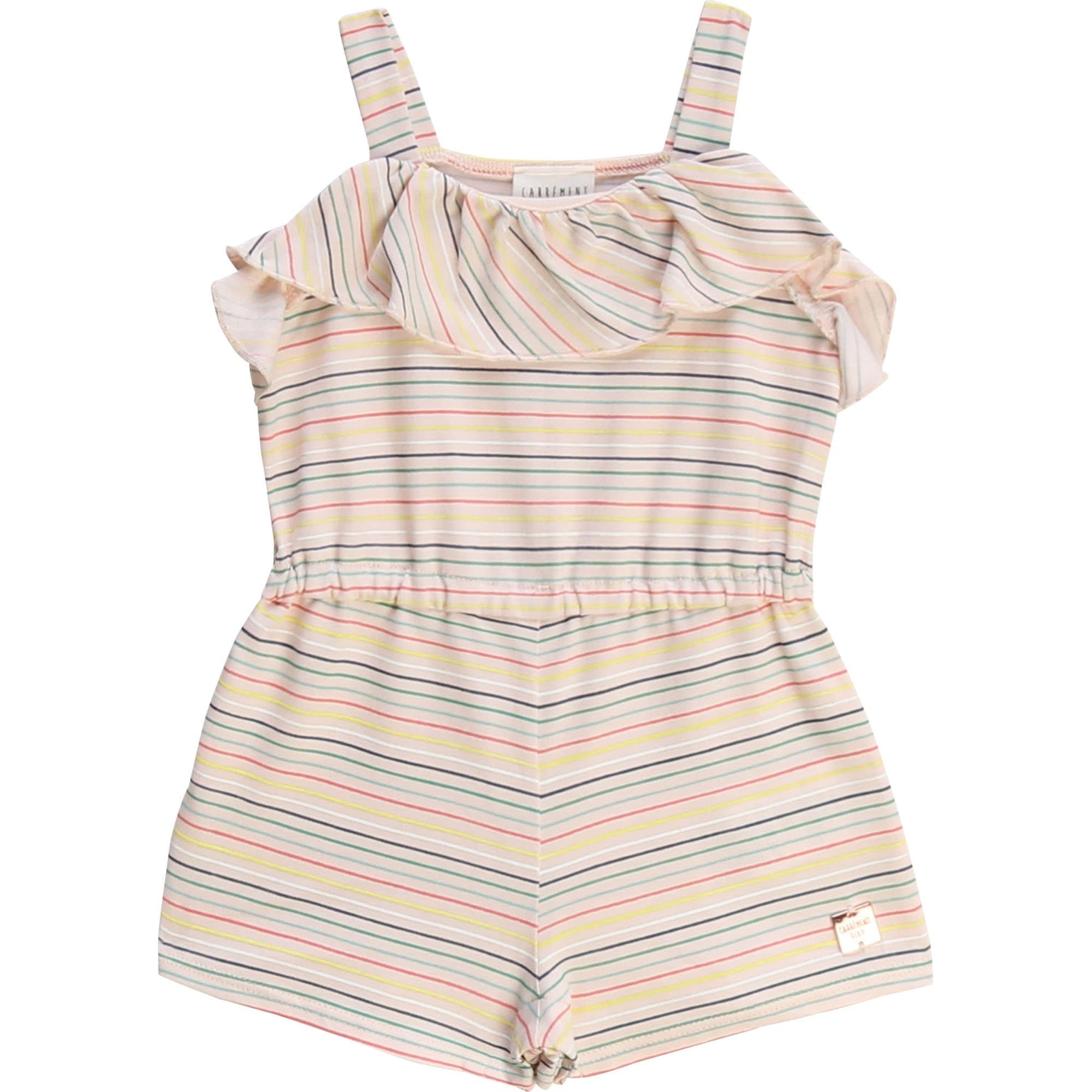 Carrement Beau Striped Playsuit