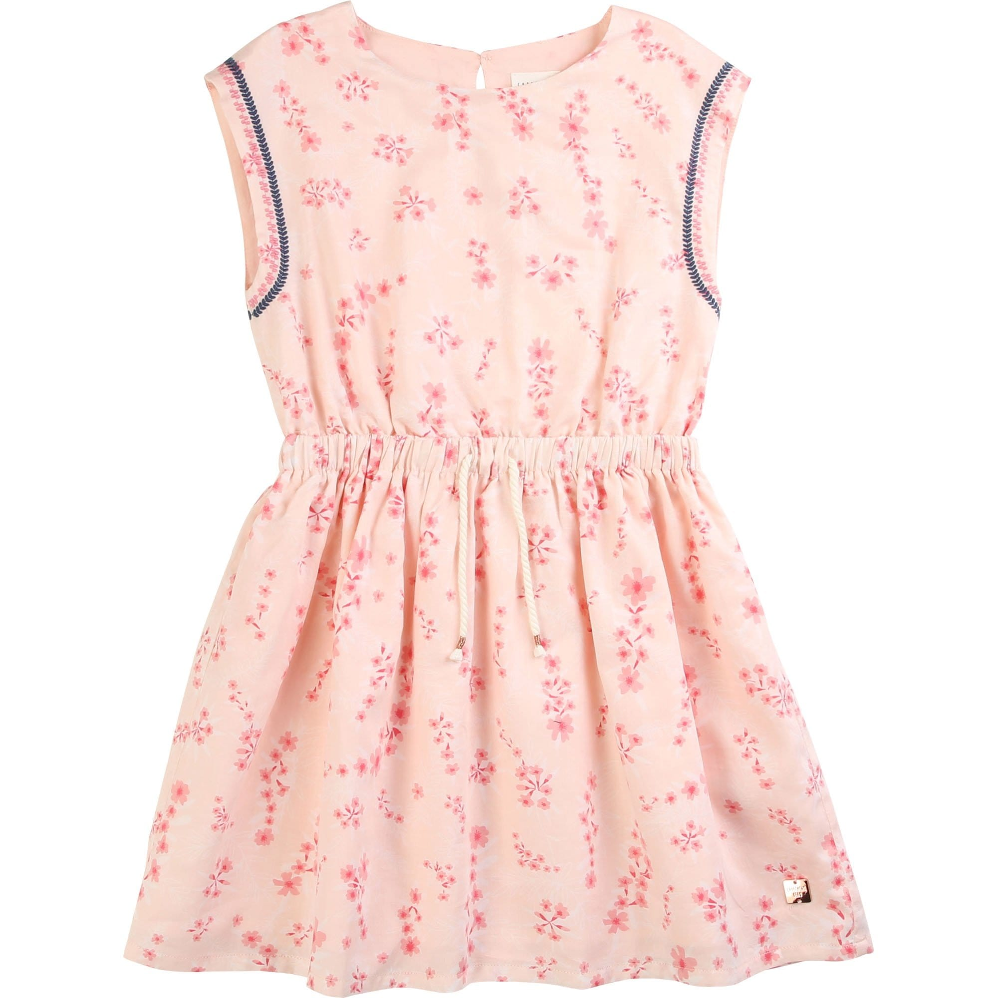 Carrement Beau Floral Cord Waisted Dress