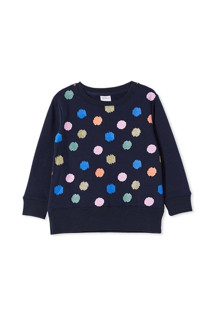 Milky Animal Spot Sweat Jumper