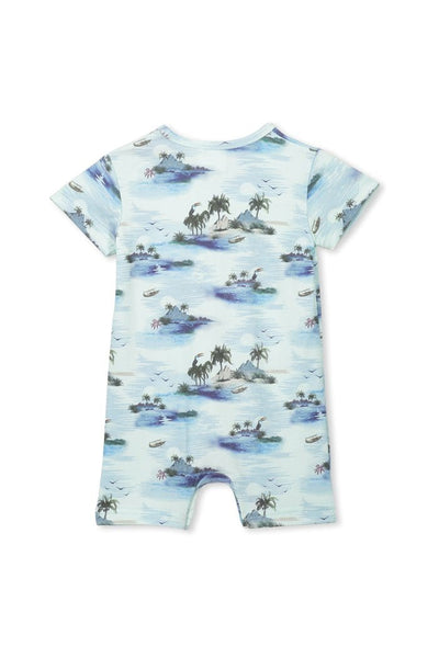 Milky Hawaii Romper - Morning Mist