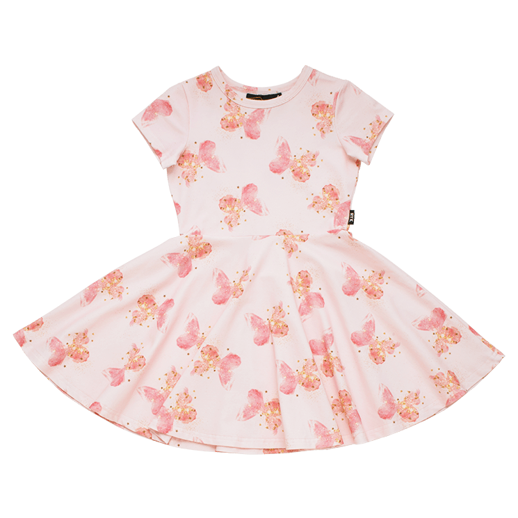 Rock Your Kid Butterfly Kisses - SS Waisted Dress