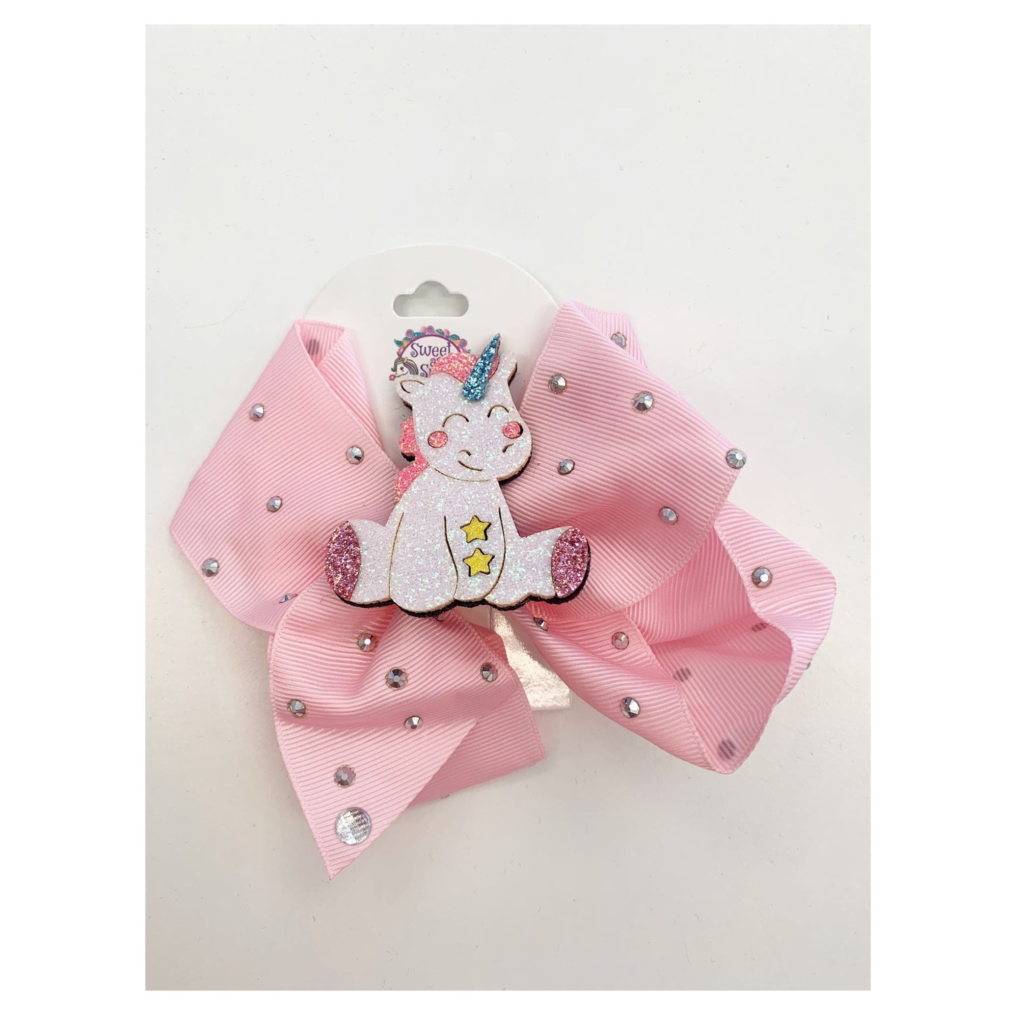 Sweet as Sugar Jellewery Unicorn Pink Hair Bow