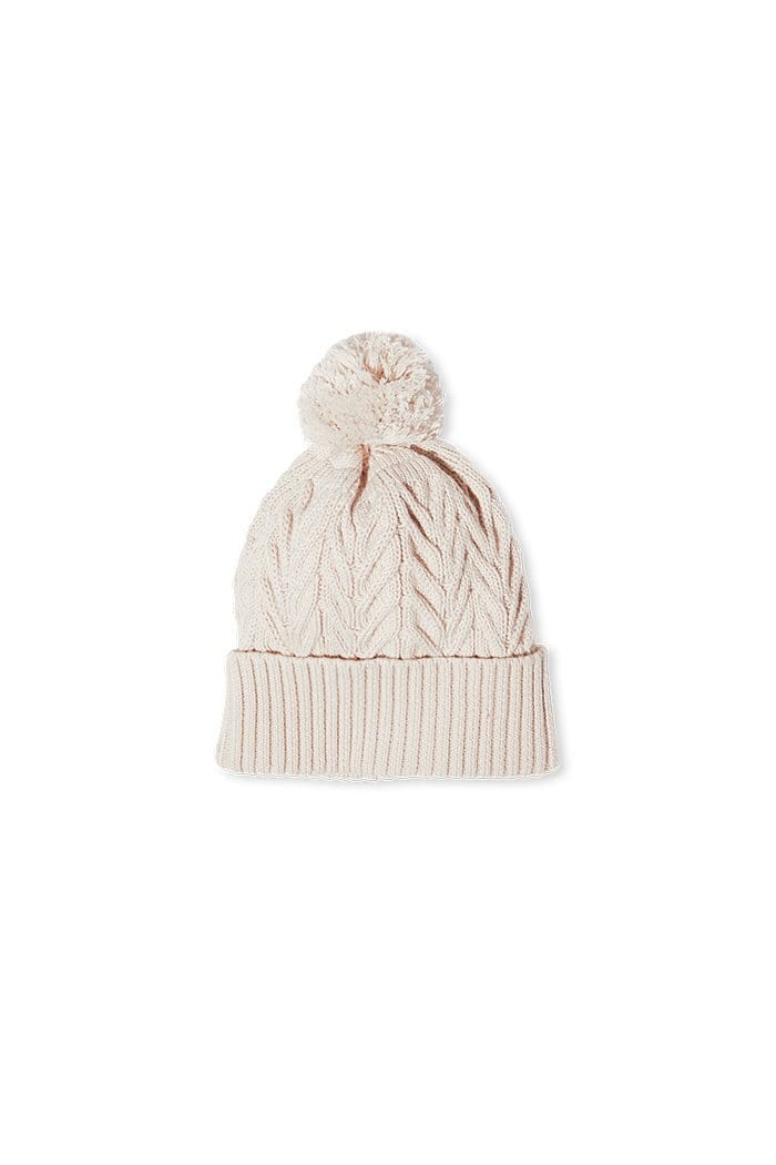 Milky Cable Knit Beanie - Natural