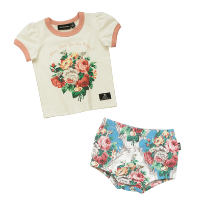 Rock Your Baby French Bloom T-Shirt and Nappy Cover Set