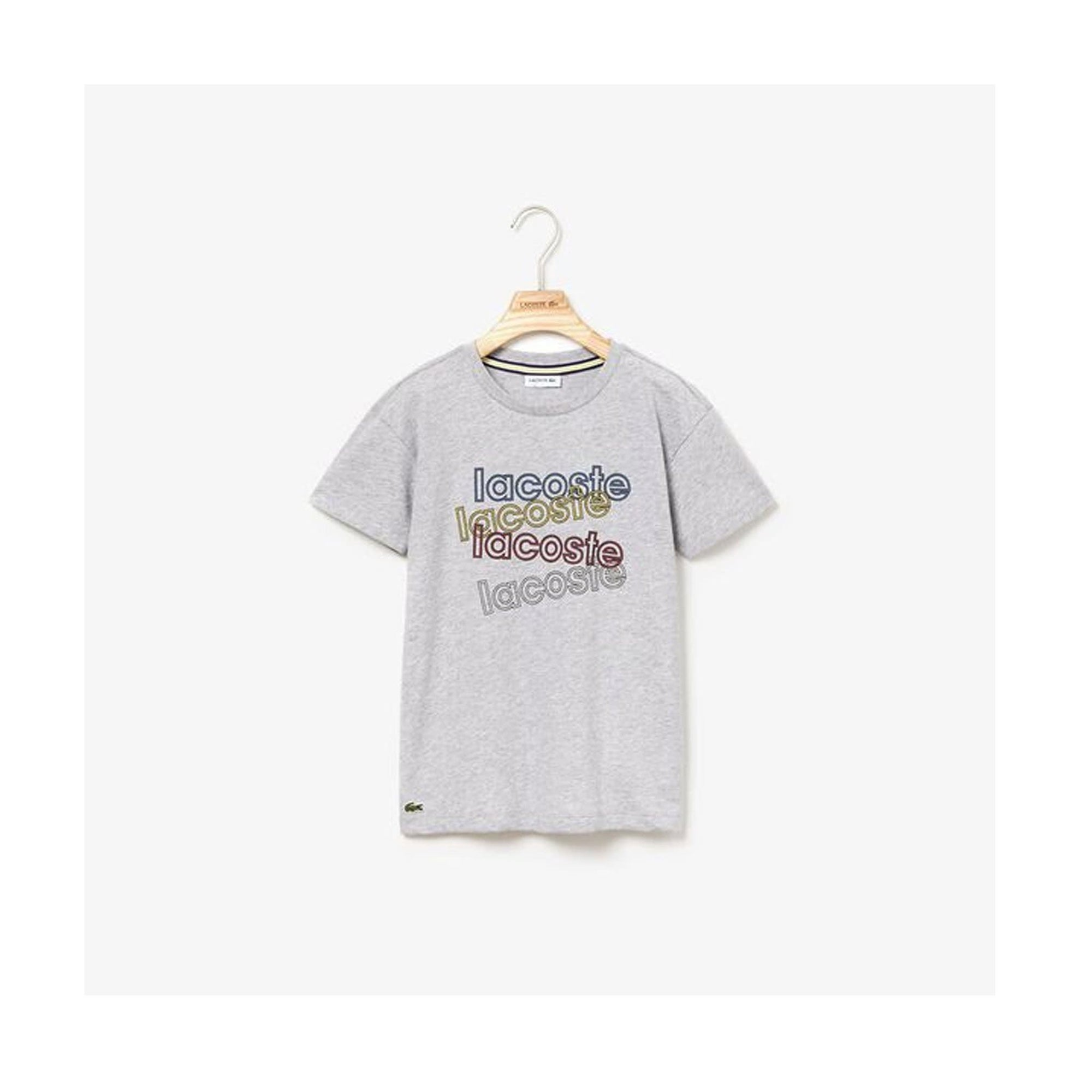Lacoste Boys Athleisure T-Shirt Grey Marle