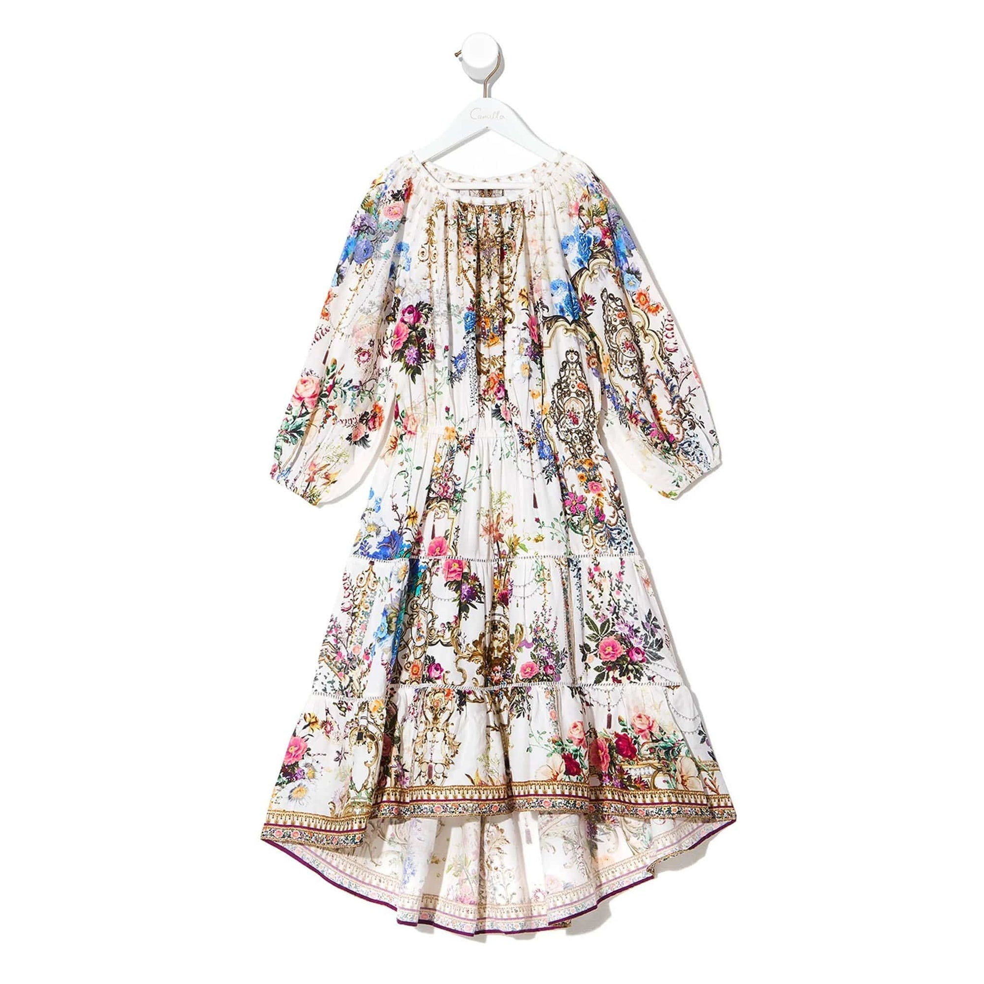 Camilla By The Meadow Kids Hi-Low Blouson Sleeve Dress