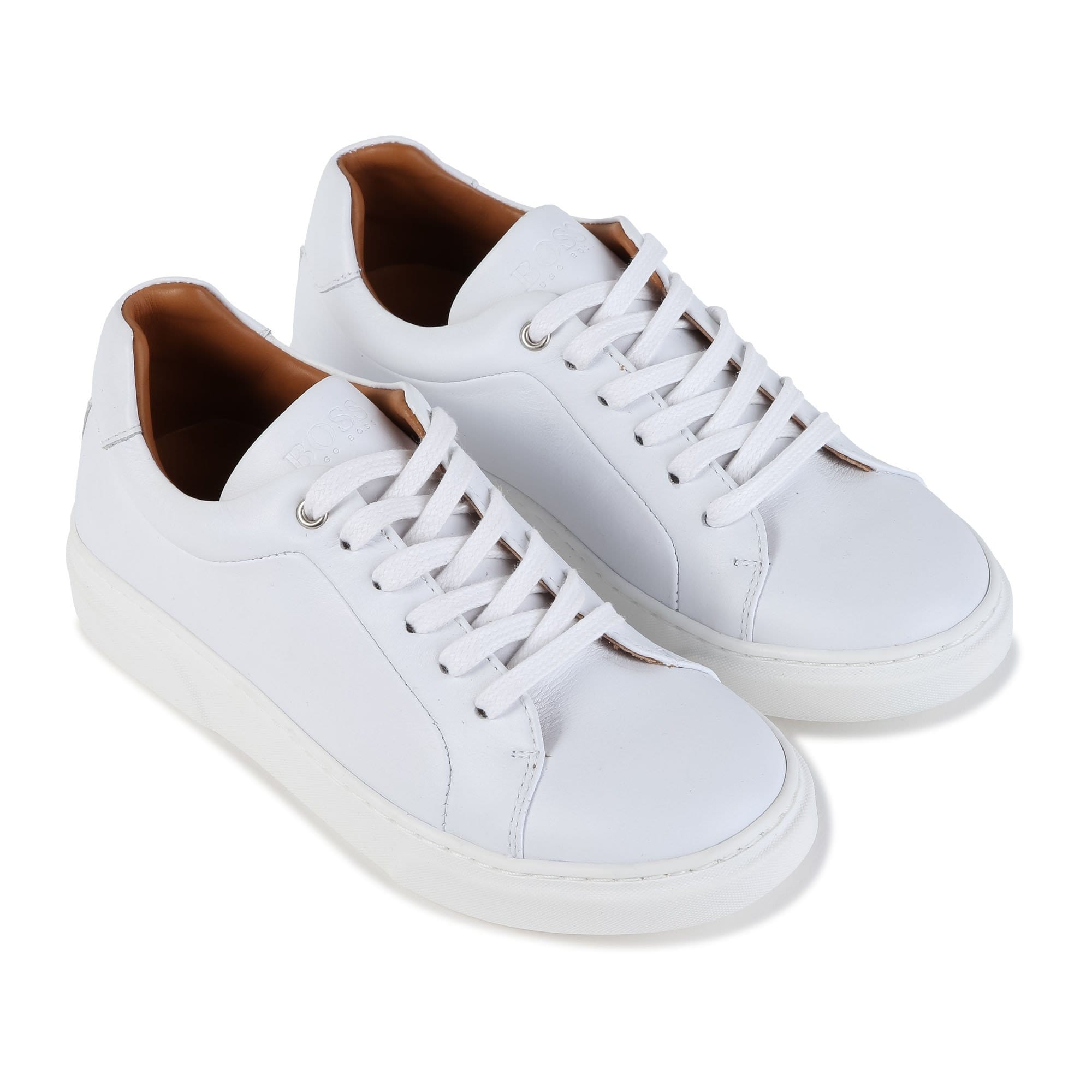 Hugo Boss White Trainers J29207/10B