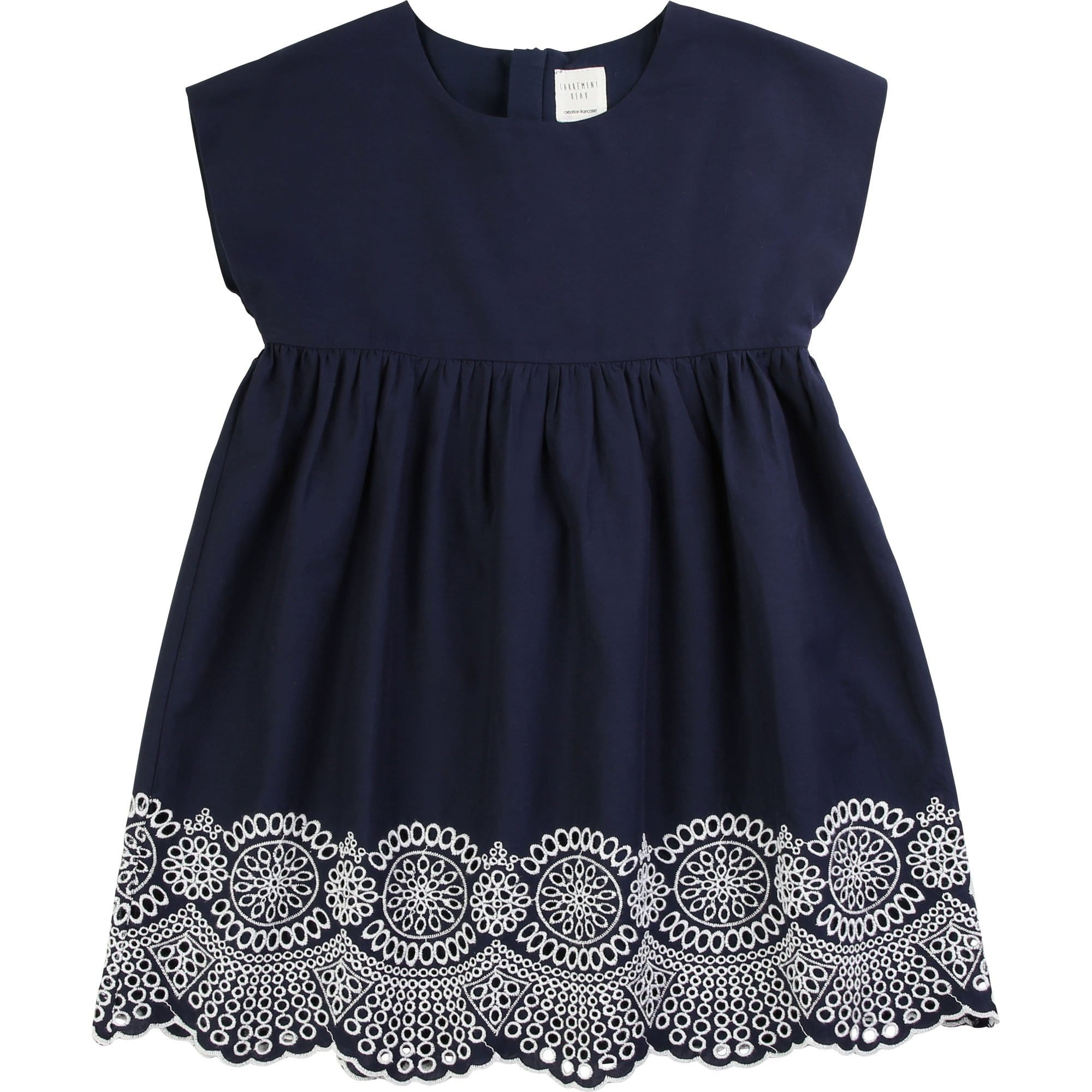 Carrement Beau Embroidered Dress Navy Y12203/849