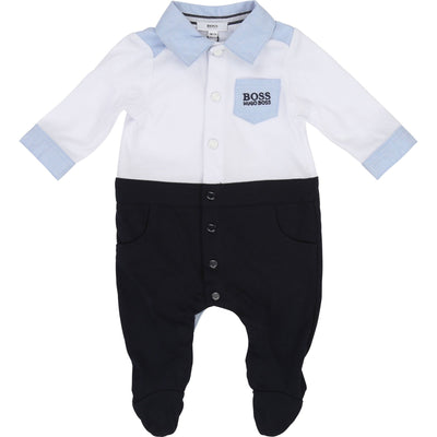 Hugo Boss Boys Shirt Collared Romper J97136/N68 (4696861180035)