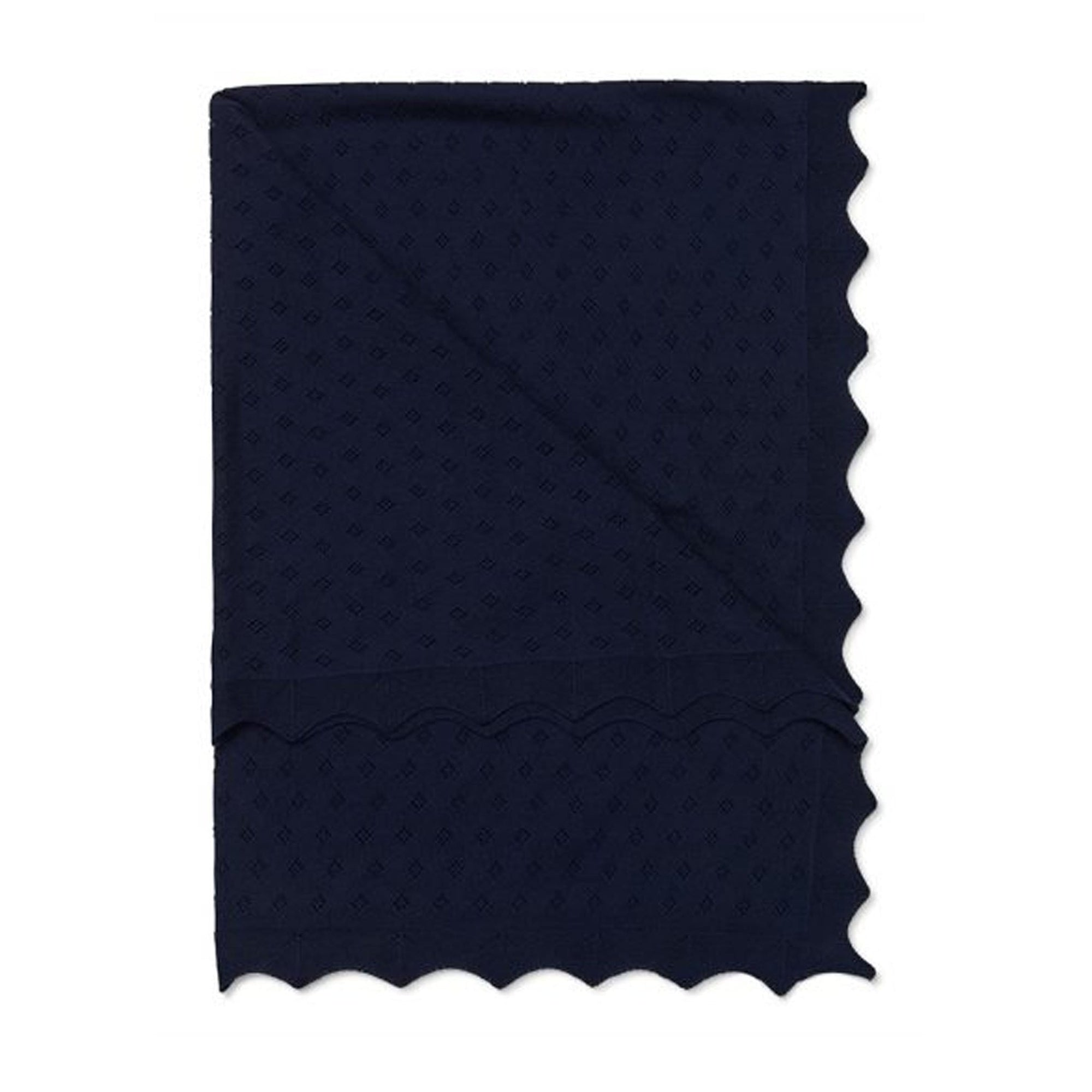 Marquise Cotton Blanket Navy
