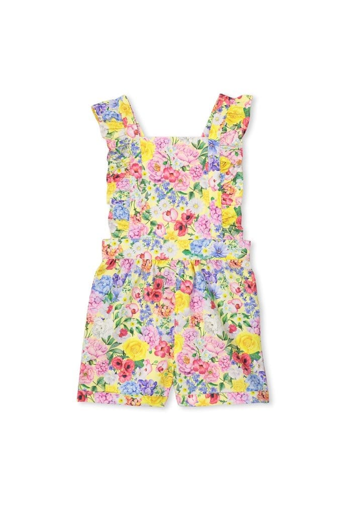 Milky Summer Floral Playsuit
