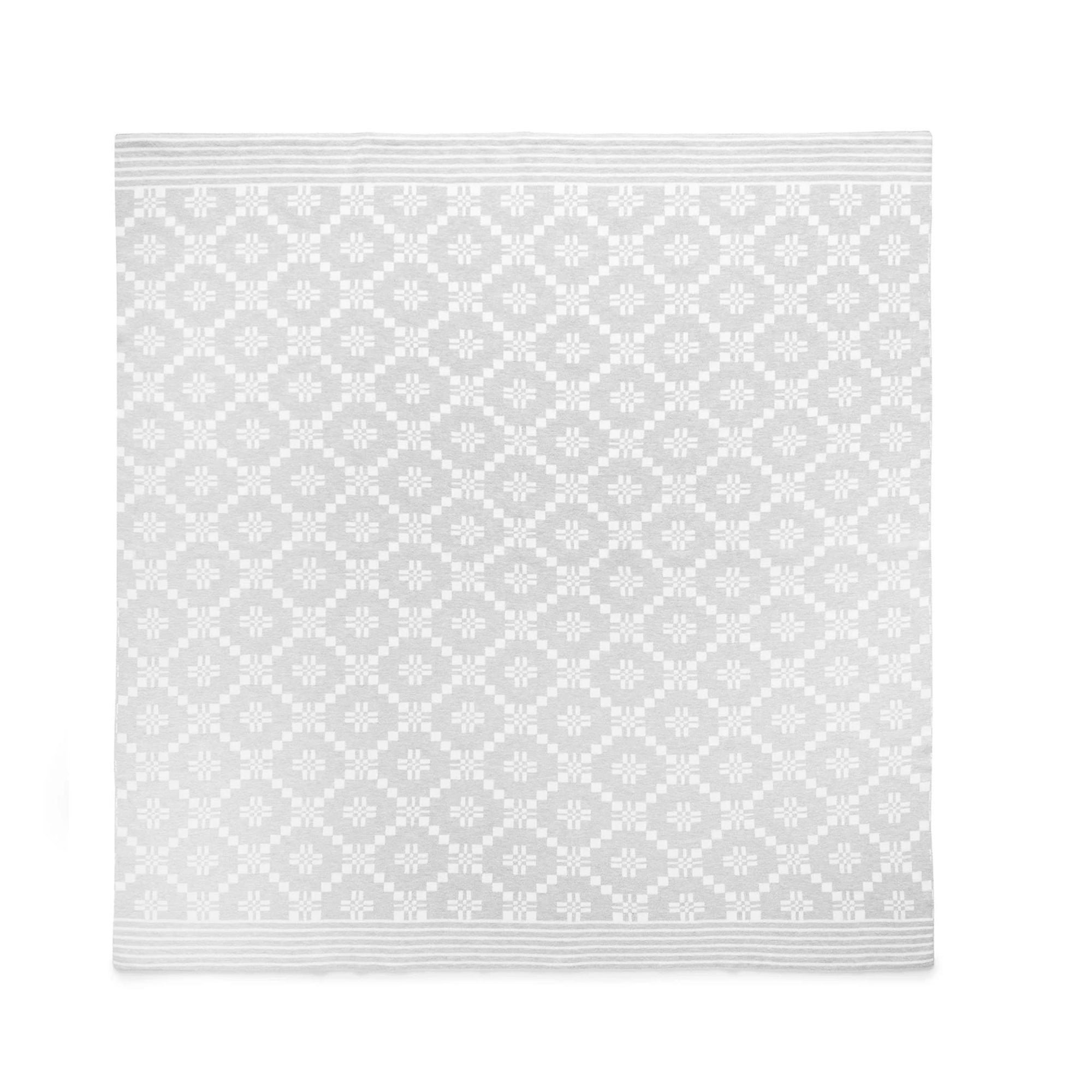 Pure Baby Geometric Blanket Pale Grey PH1005NS