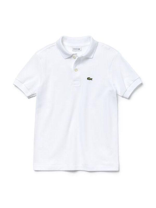 Lacoste Basic Kids Polo White (4684837781635)