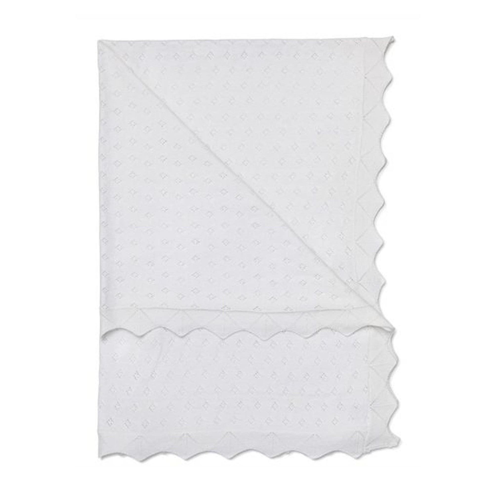 Marquise Cotton Blanket White