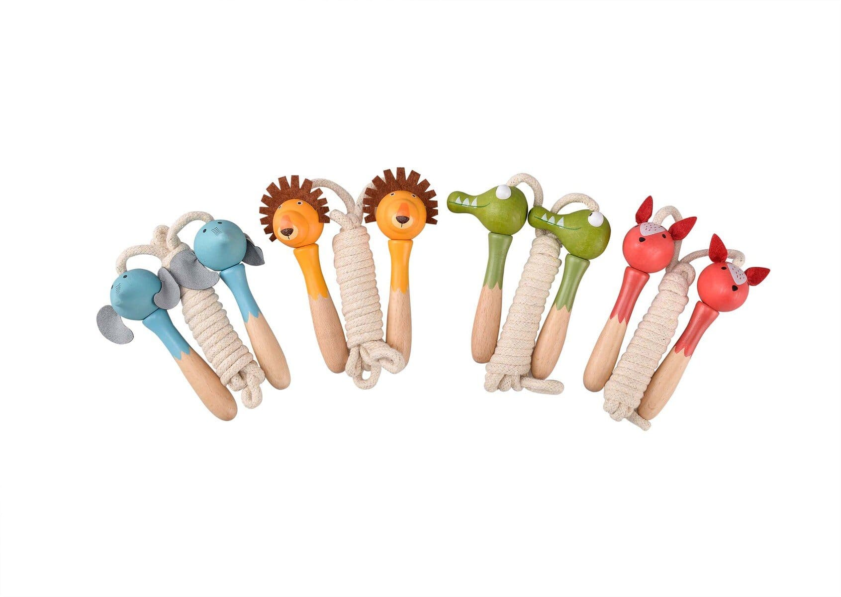Eleganter Jungle Animal Wooden Skipping Rope
