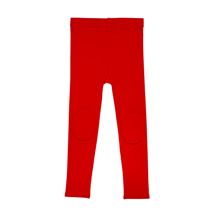 Rock Your Kid Knee Patch Tights Red (4636176580739)