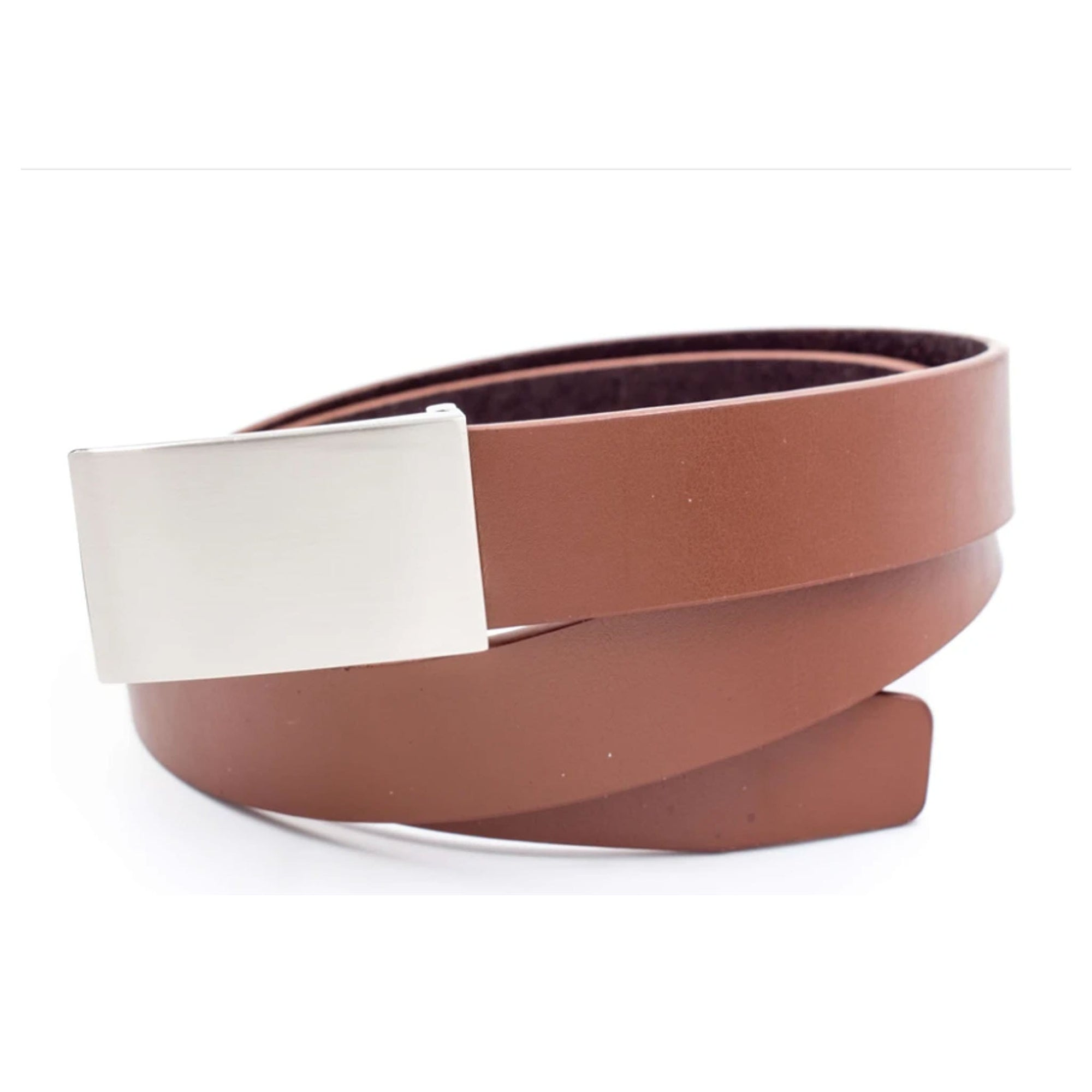 Leather Adjustable Belt - Brown