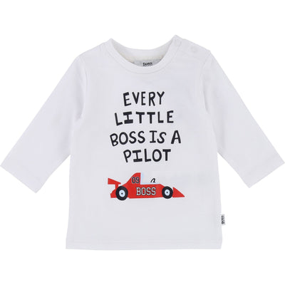 Hugo Boss Baby Long Sleeve T-Shirt (4696360255619)