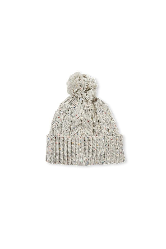 Milky Cable Knit Beanie - Grey