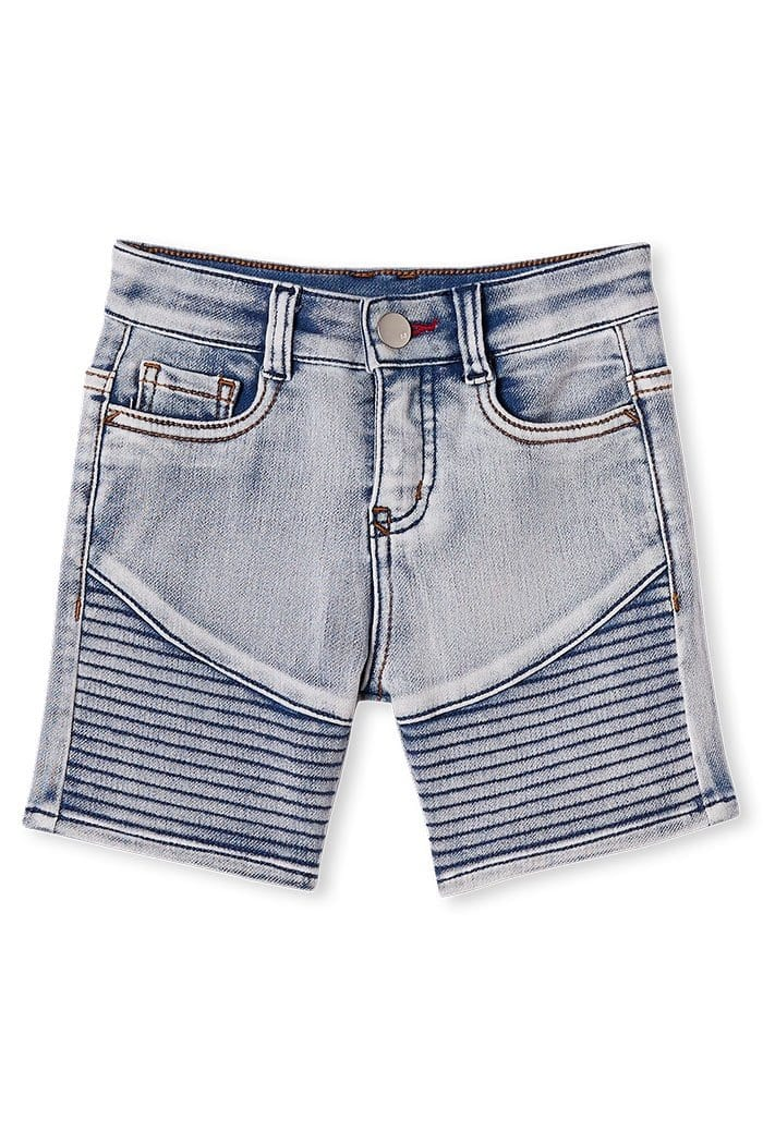 Milky Knit Denim Short*