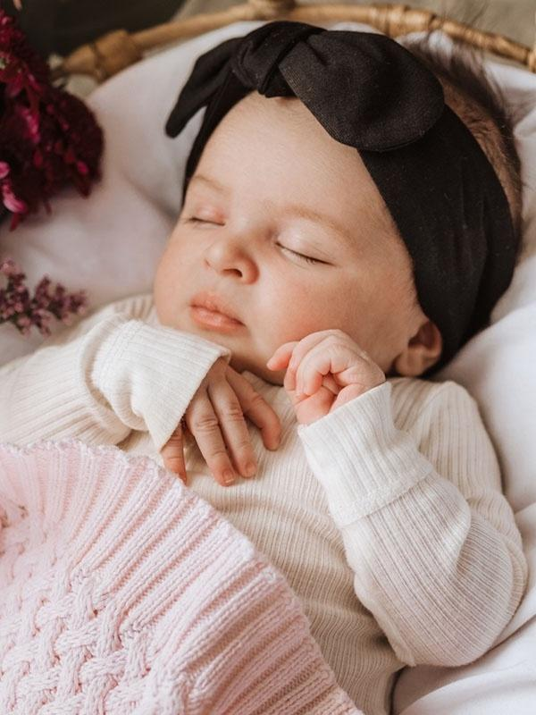 Snuggle Hunny Black Topknot Headband