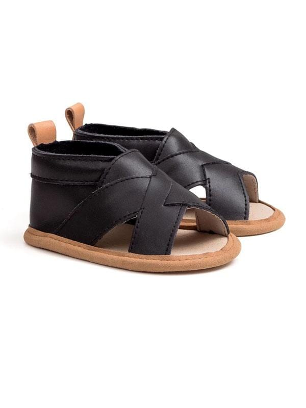 Pretty Brave Cross-over Sandal Castle Black PBCOCB
