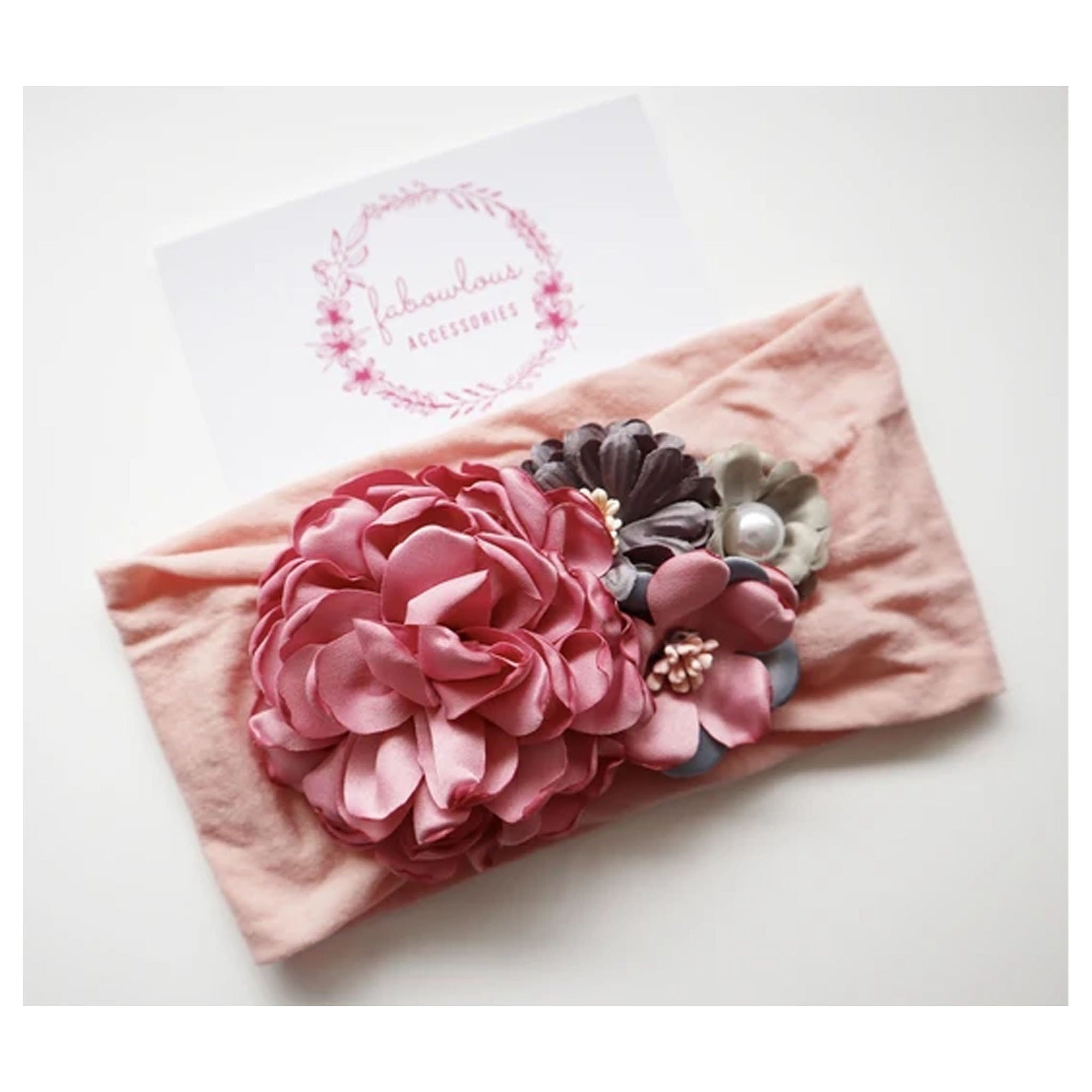 Fabowlous Accessories Amelia Floral Headband (4961871724675)