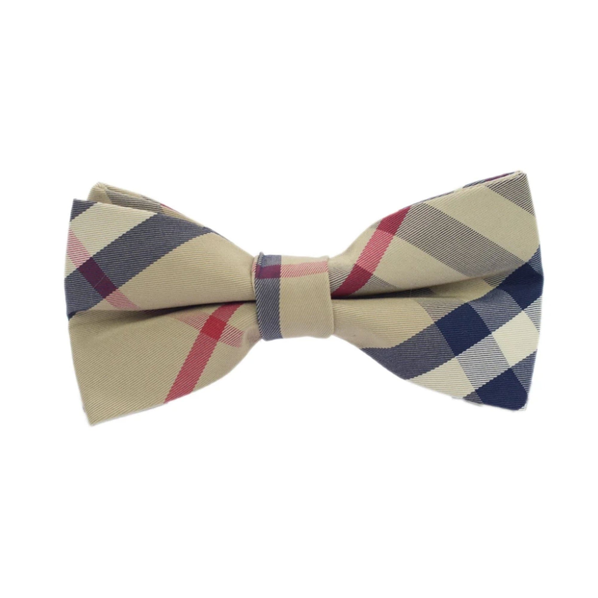 Boys Bow Tie Brown Checkered