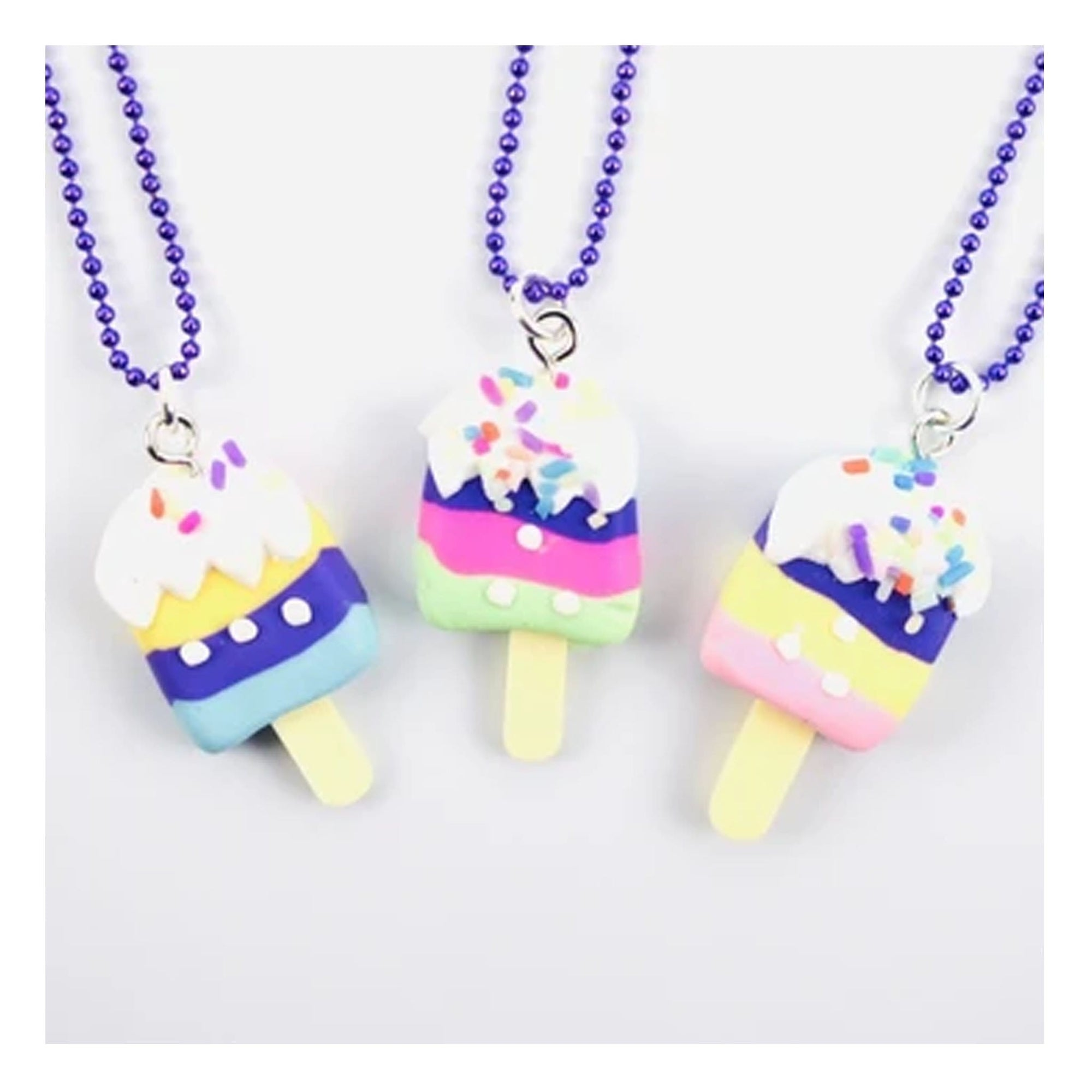 Sweet as Sugar Jewellery Striped Ice Cream Chain Necklace