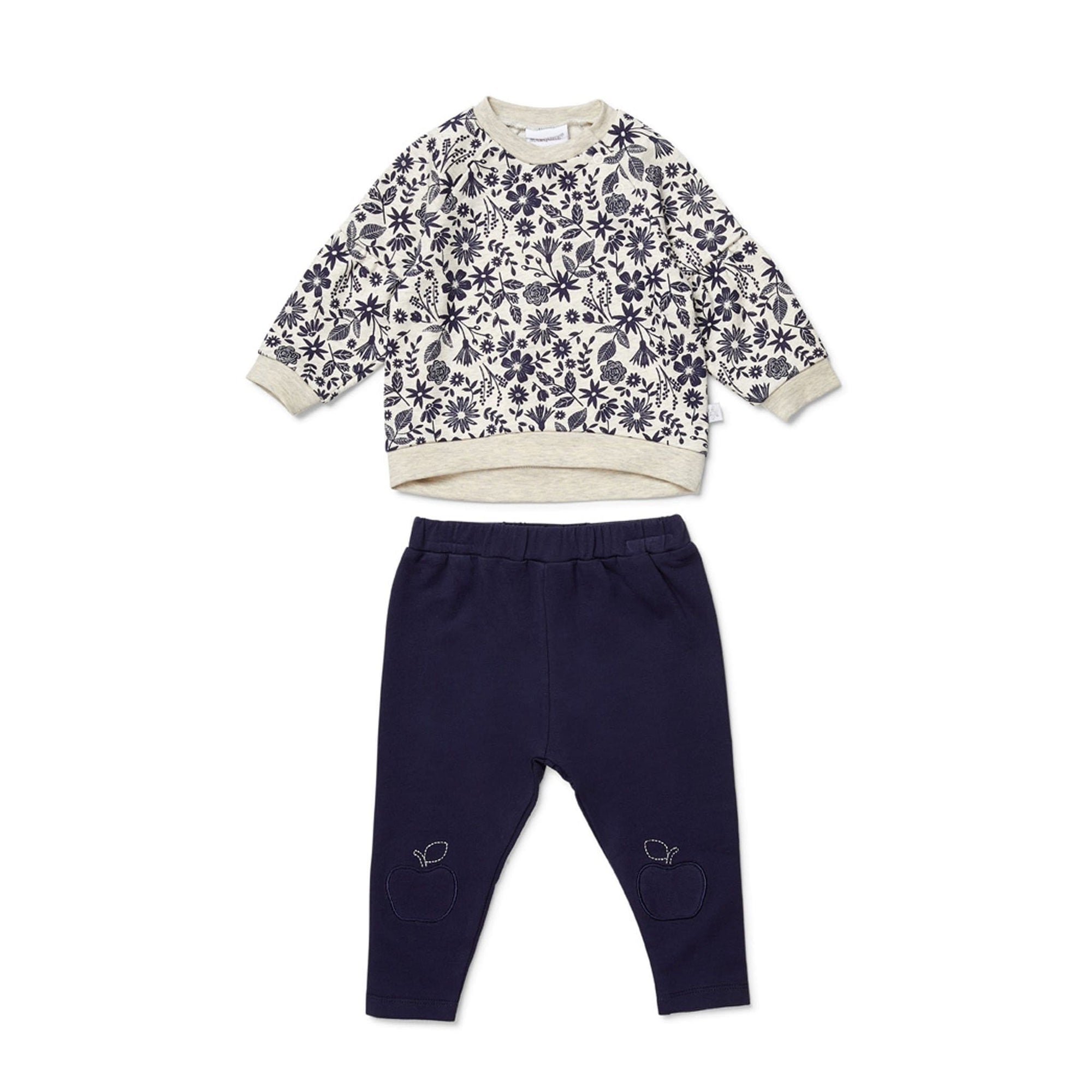 Marquise Apple Blossom Top and Navy Pants