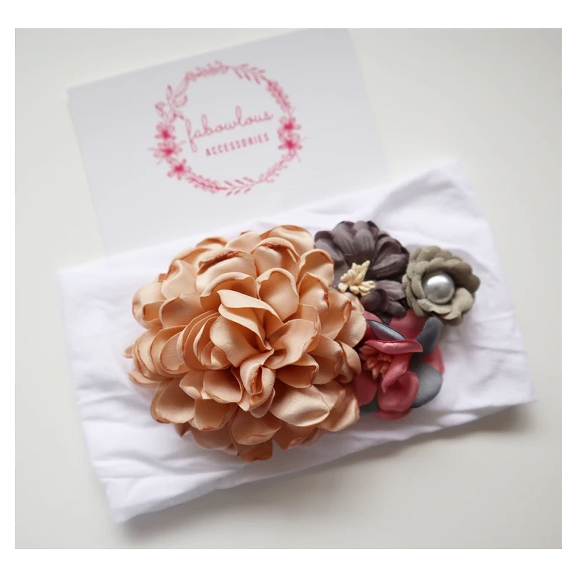 Fabowlous Accessories Amelia Floral Headband (4961873166467)