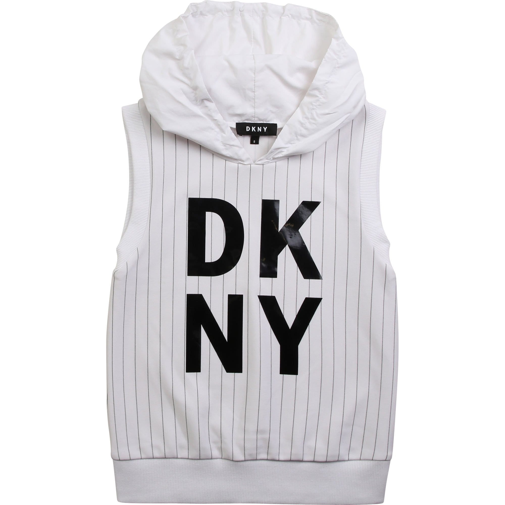 DKNY Hooded Sleeveless Sweatshirt D35Q60/10B