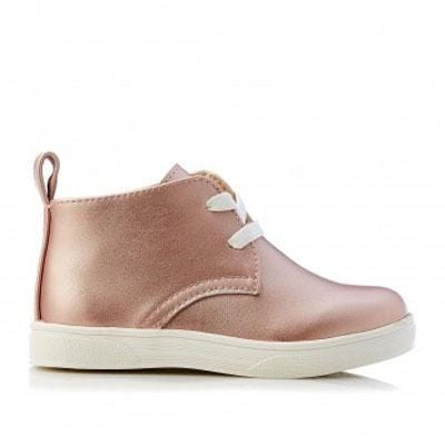 Walnut Sammy Leather Boot Rose Gold