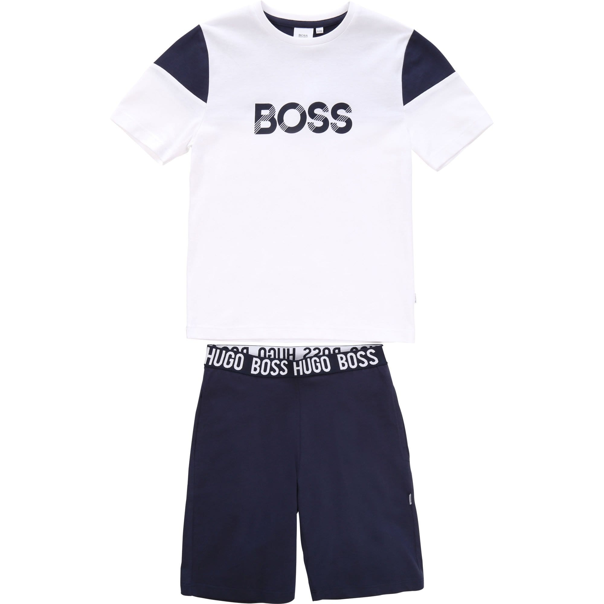Hugo Boss PJ Set White/Navy J28072/N68