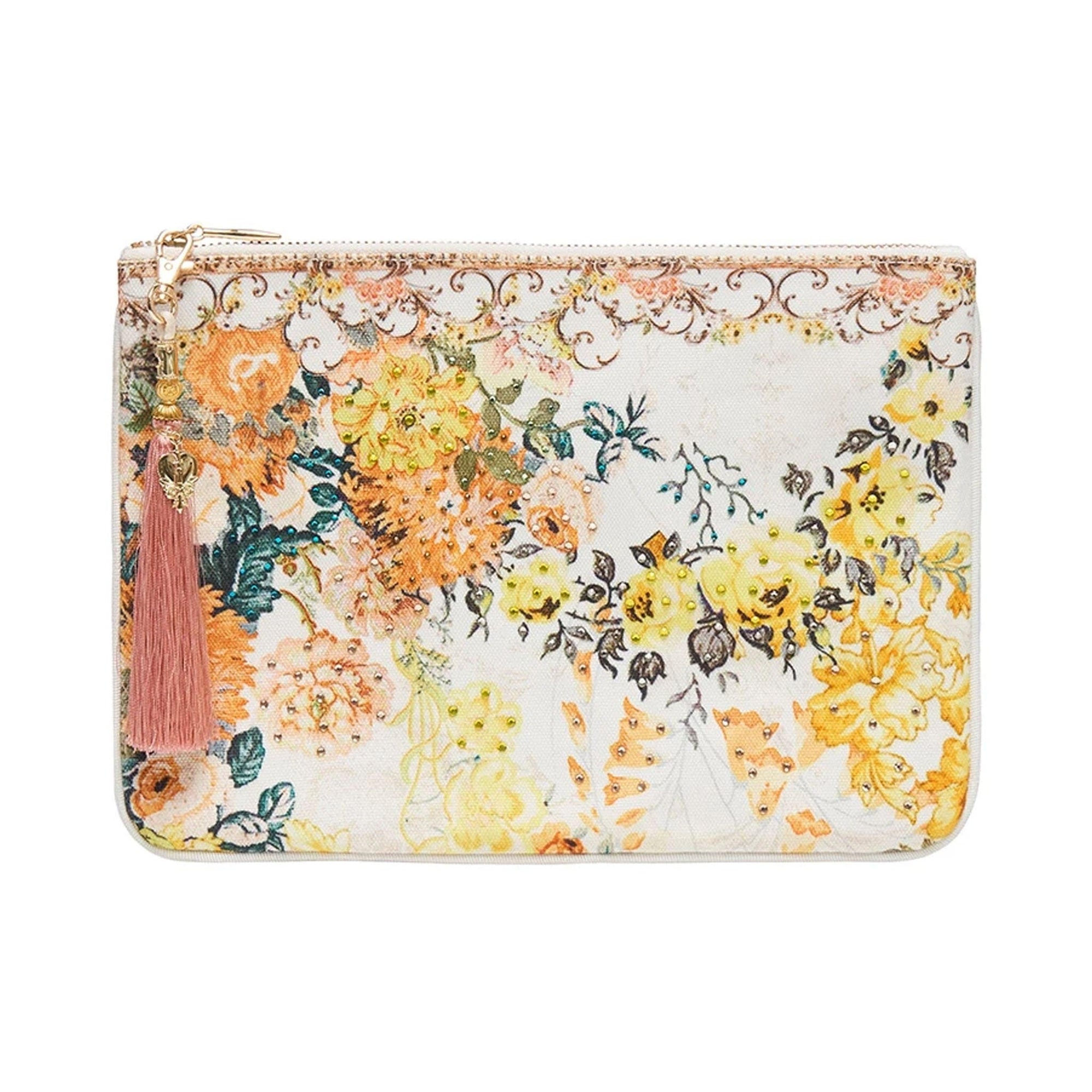 Camilla In the Hills of Tuscany Small Canvas Clutch