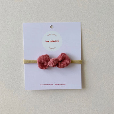 Bow Collective Gigi Knot Bow - Raspberry