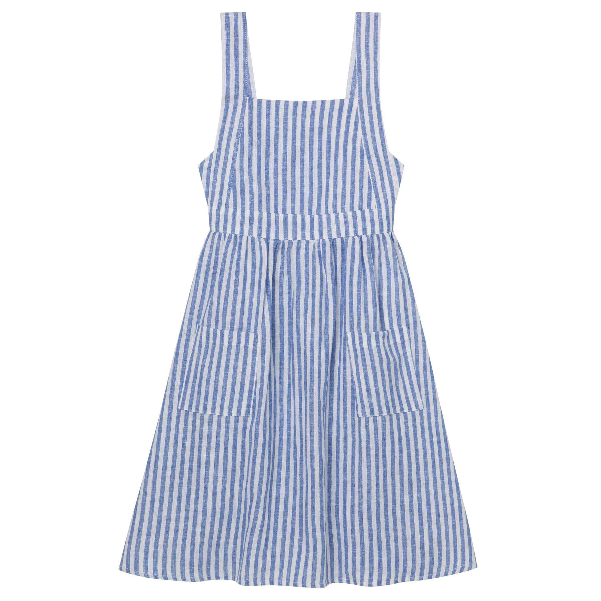 Designer Kidz Midi Dress with Straps - Seaside Stripe