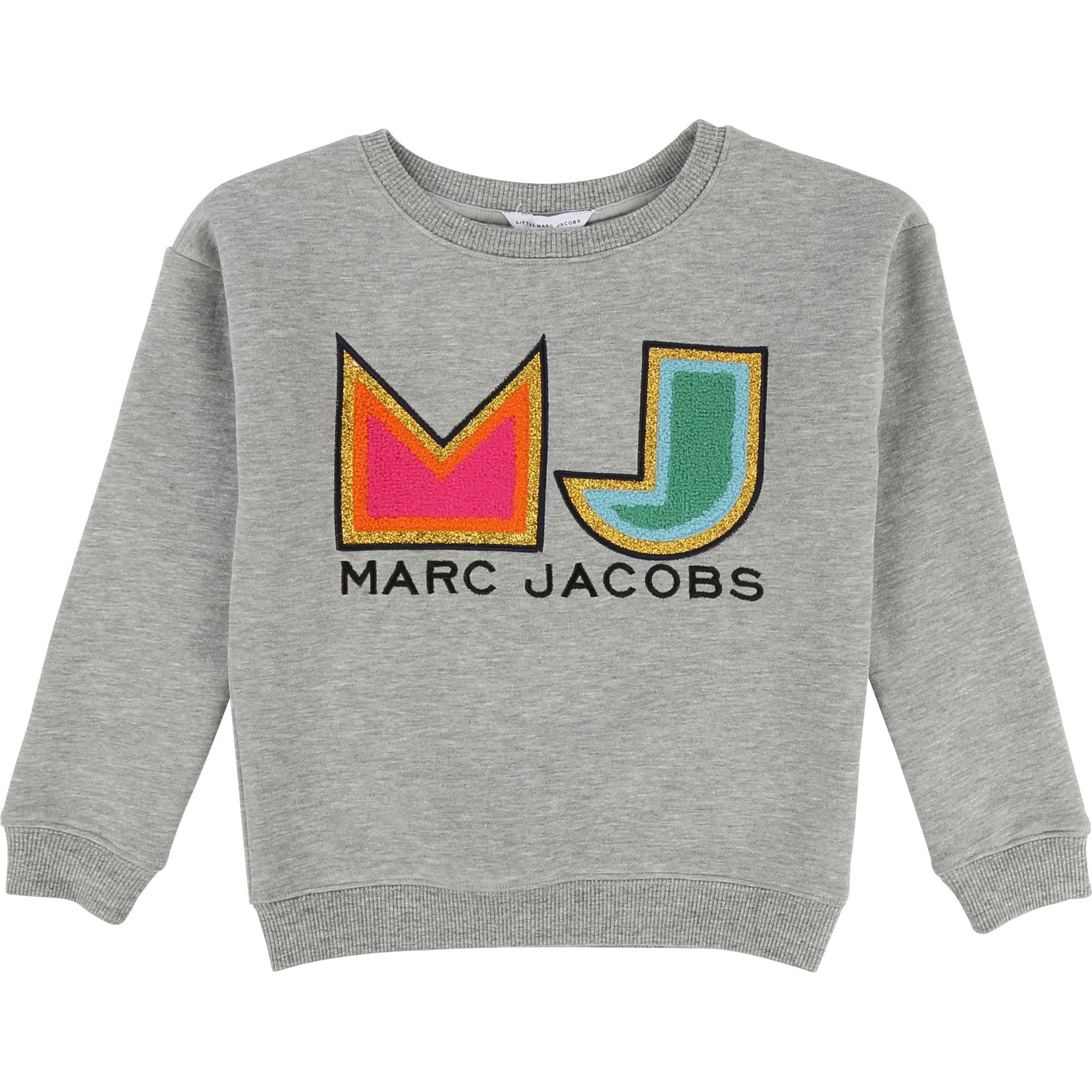 Little Marc Jacobs Logo Sweatshirt Chine Grey