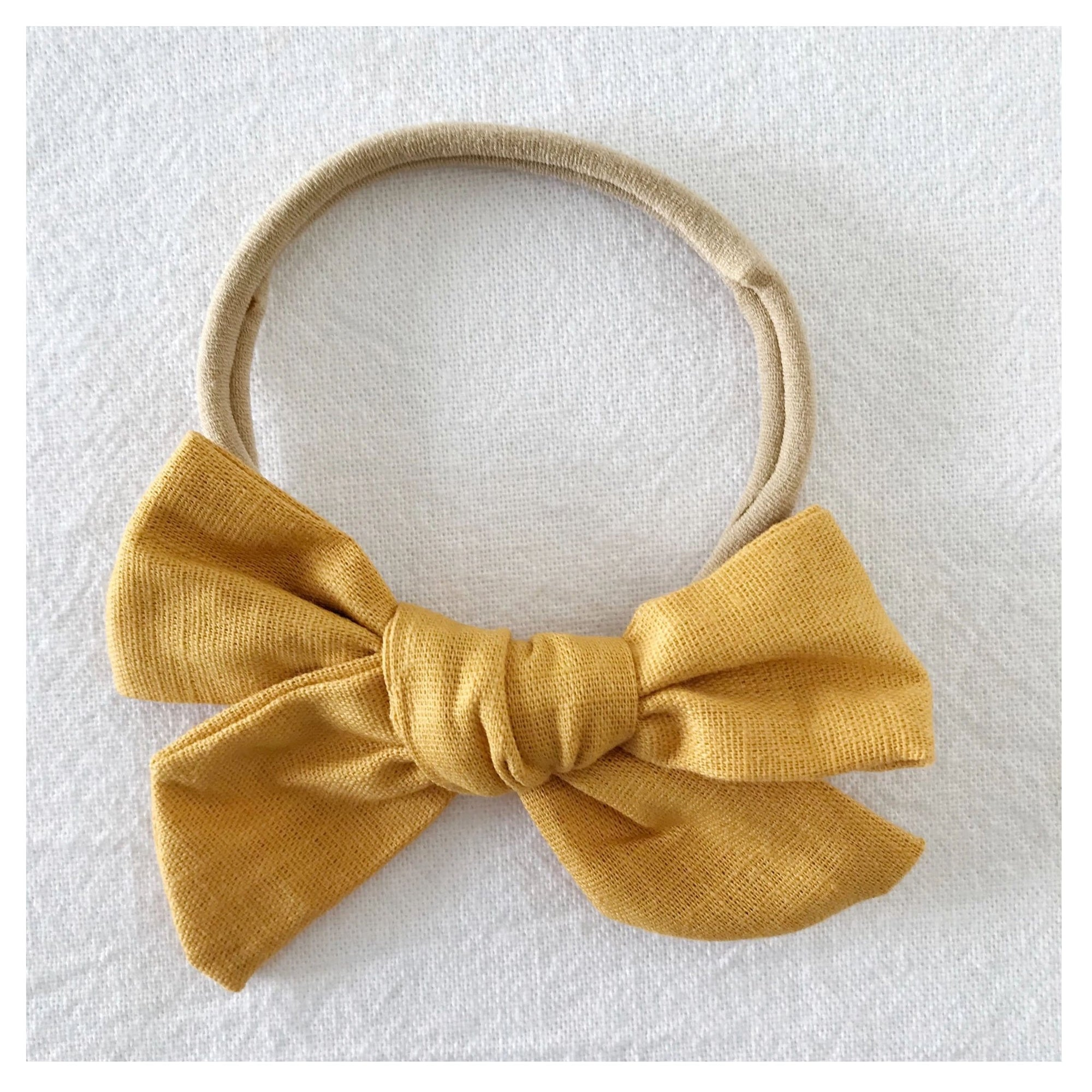 Bow Collective Pinwheel Hair Bow Mustard