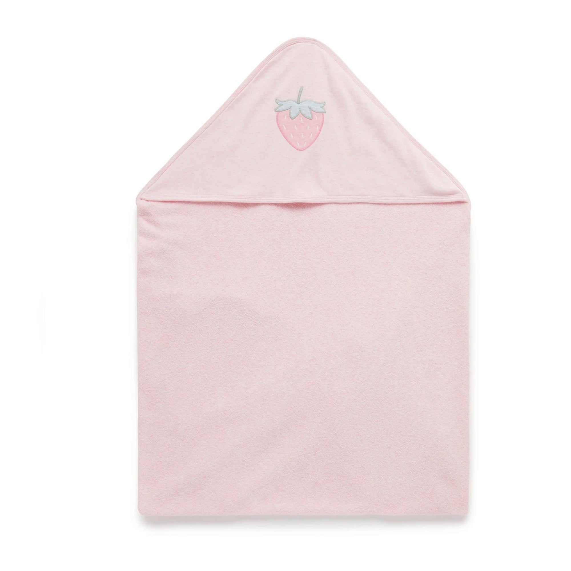 Pure Baby Hooded Towel Soft Pink Melange PH2001W20 (4688438493315)