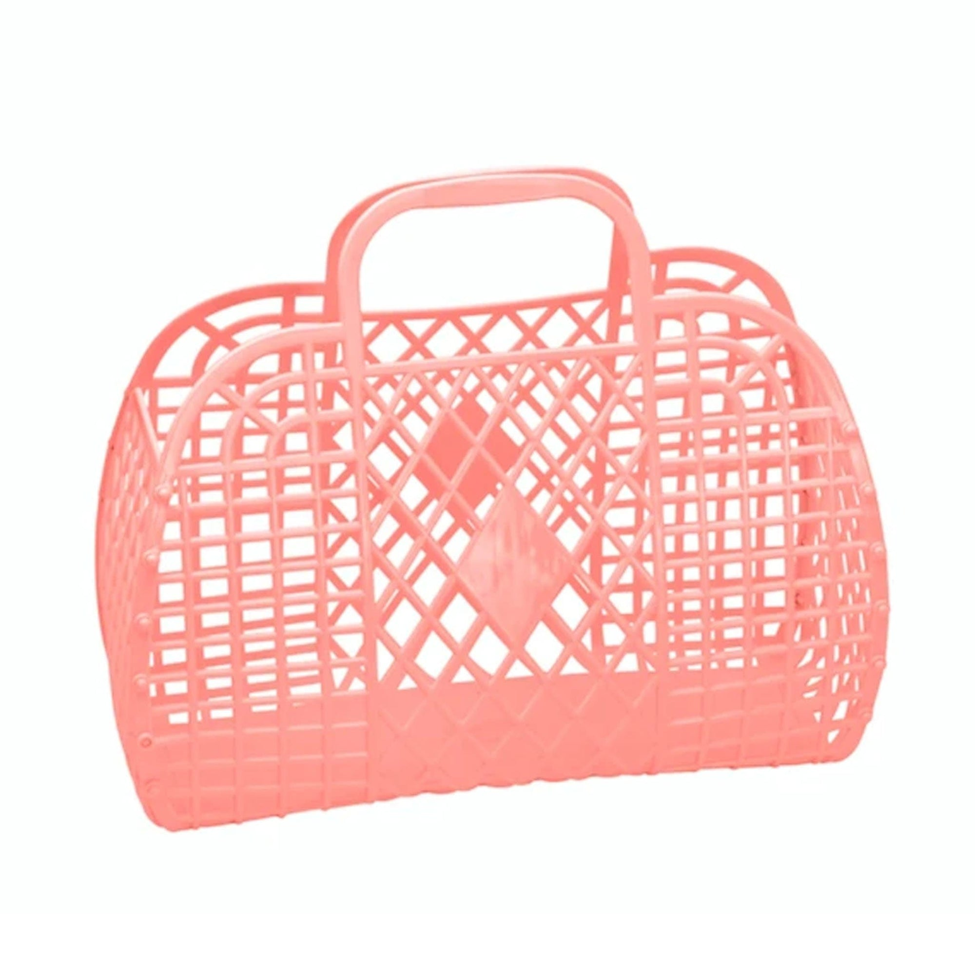 Sun Jellies Retro Basket Peach - Small
